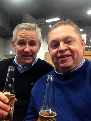 Steve Woodhead, our UK Sales Manager and me enjoying a well-deserved drink after the exhibition!