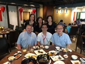 Visiting customers with Intermarine, Singapore