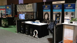 The Straightpoint booth finally ready for the doors to open at the Topsides, Platforms & Hulls Conference & Exhibition.