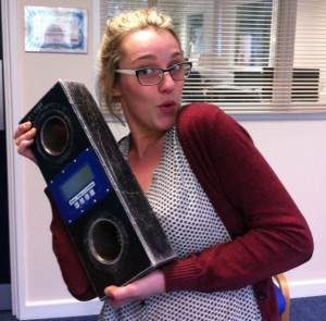 New recruit Hayley Willis embraces a Straightpoint load cell