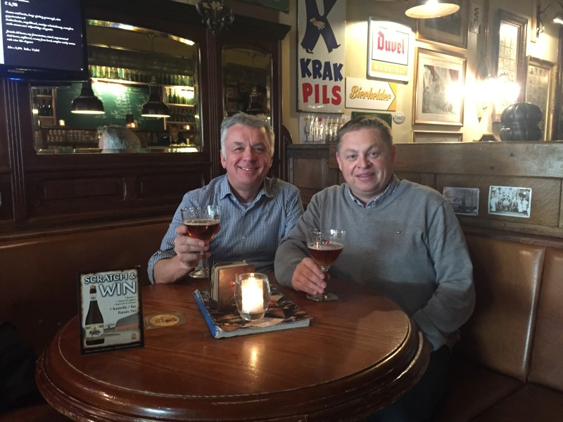 Philippe Toussaint, general manager, Metil Industrie and I enjoy some light refreshment in Antwerp.