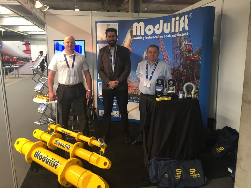 Straightpoint exhibited at Breakbulk Europe at the Antwerp Expo in Belgium alongside our friends at Modulift.