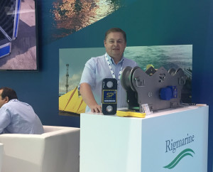 Here I am with the Running Line Dynamometer at Seatrade Offshore Marine & Workboats in Abu Dhabi.