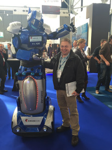 Imagine how tall this robot must have been to make me look so short at the Offshore Energy Exhibition & Conference in Amsterdam.