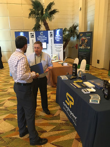 Deep in conversation at the LEEA Lifting & Rigging Conference Middle East in Dubai.