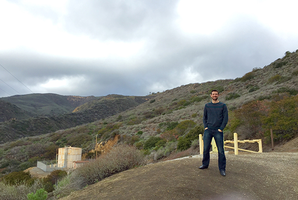 Fellow Englishman Dave Mullard enjoys cloud cover in usually sunny California.