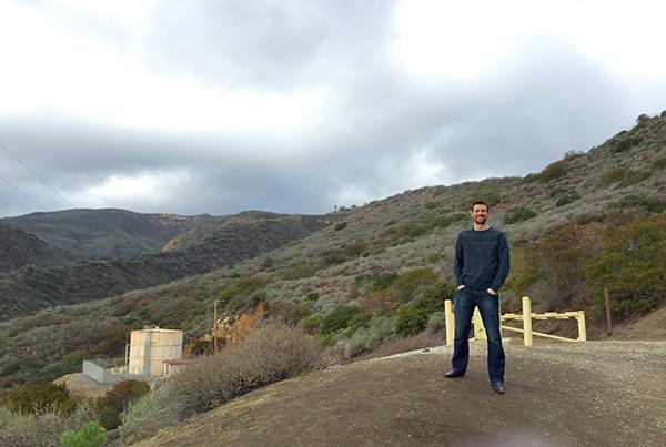 Fellow Englishman Dave Mullard enjoys cloud cover in usually sunny California.