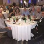 Enjoying a networking dinner with fellow below-the-hook equipment manufacturer Modulift and others at AWRF.