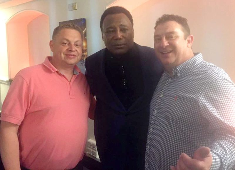 Mark Bridger, of Bridger Howes, and I with the great George Benson backstage at a recent gig at the O2 in London.