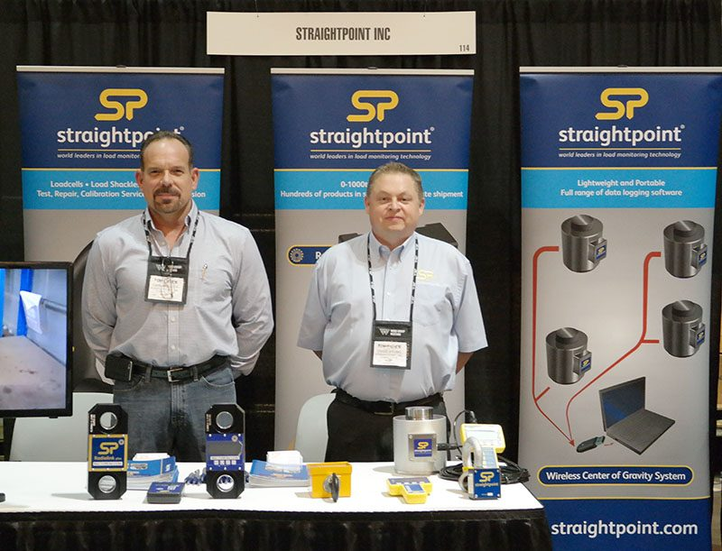 Here I am enjoying a recent trade show with Mr. Loadlink, aka Straightpoint CEO David Ayling.