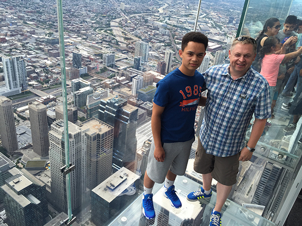 My son, Isaac, and I at the top of Willis Tower—still commonly referred to as Sears Tower—in Chicago.