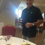Gary Mullins, of Action Coach, celebrates his charity golf day success.