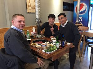 Dinner with Gaylin near its facility in Busan South Korea