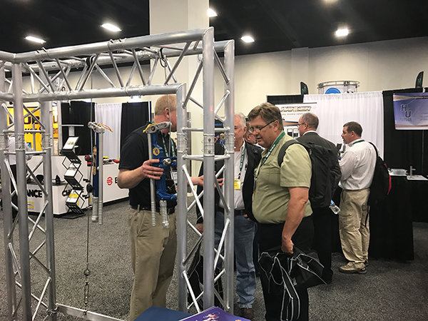 Tower erection and maintenance professionals were among visitors to our exhibit at NATE's recent conference and exhibition.