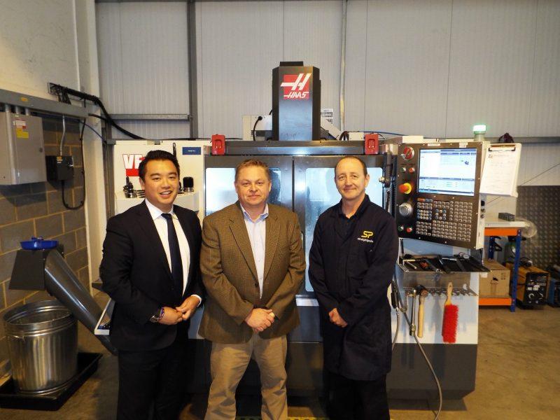 Alan Mak with me and Marcus MacDonald last week.