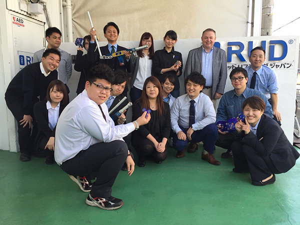 An engaged audience always greets us at RUD Lifting Japan