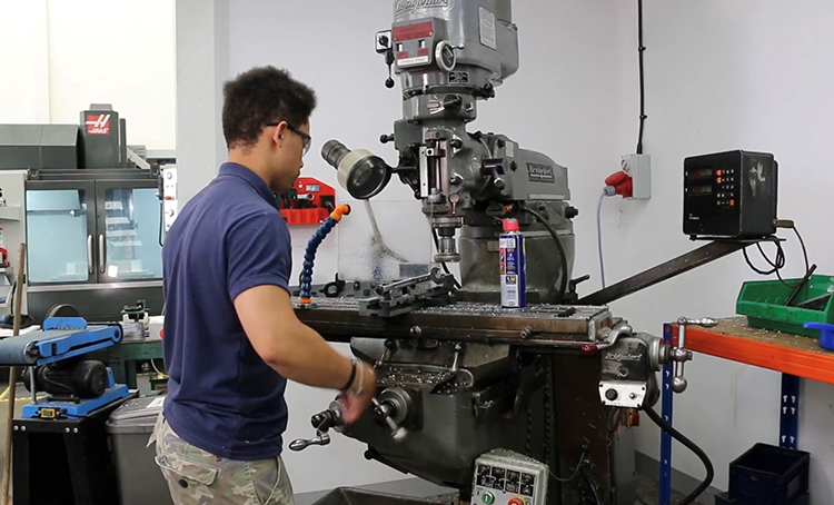 Isaac is relishing the varied, daily challenges in SP's machine shop.