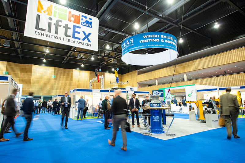The Marshall Arena show floor was tailor-made for LiftEx.