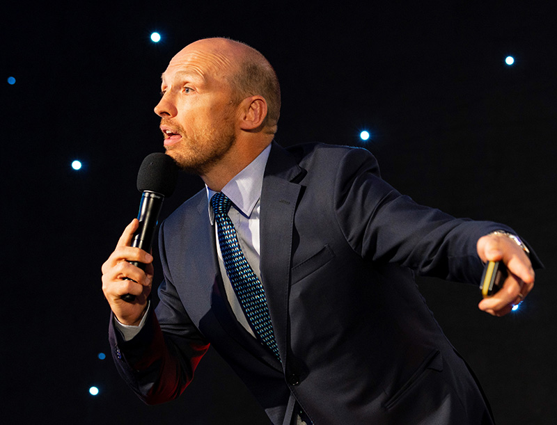Matt Dawson's appearance raised the profile of the LEEA Awards evening.