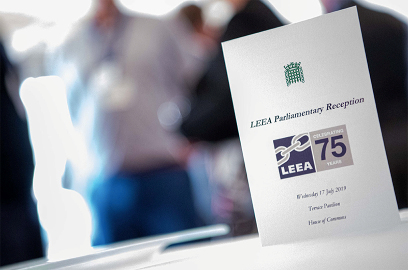 LEEA celebrated 75 years at a parliamentary reception at the Houses of Parliament.