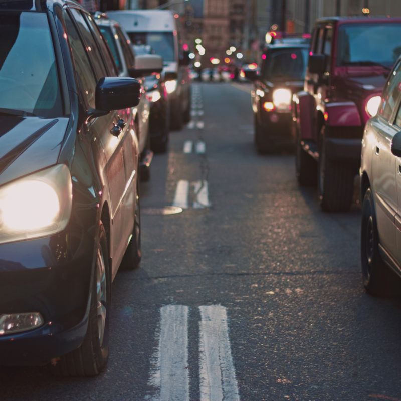 Allow for traffic jams; many trade shows add congestion to an area.