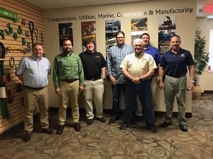 : Here I am (left) with John Molidor (right) and the team at I&I Sling Inc., commonly associated with its Slingmax Rigging Solutions brand.