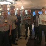 David Mullard and I with LEEA staff and friends during an after-hours networking session in Ireland.