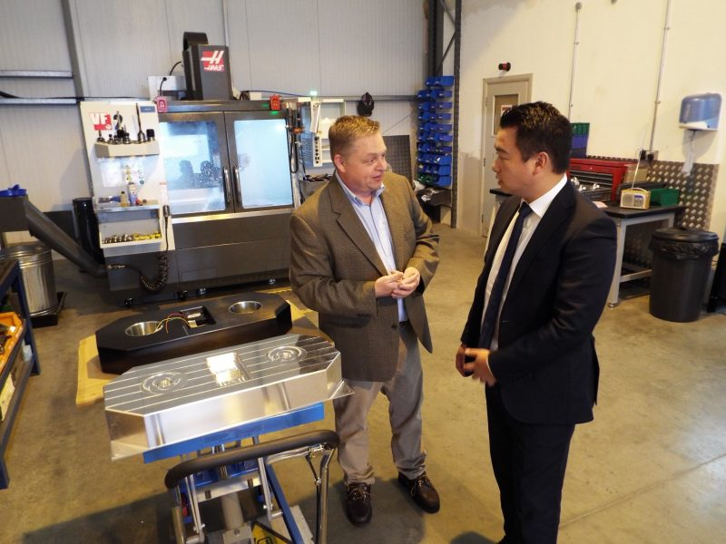 I showed Alan Mak, Member of Parliament for Havant, around our Havant facility and new machine shop.